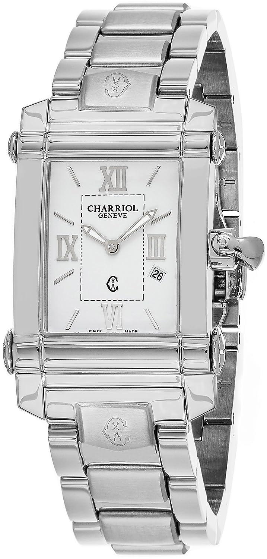 Charriol Damen 'Columbus' Swiss Quarz Edelstahl Kleid Uhr - Farbe: silberfarbene (Modell: ccstrh. 920.830)