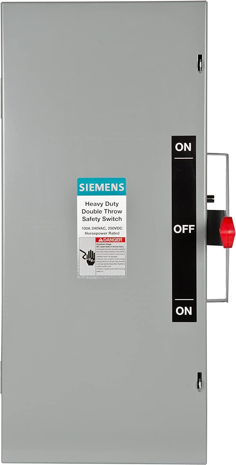 Siemens DTNF323 100-Amp 3 Pole 240-volt 3 Wire Non-Fused Double Throw Safety Switches