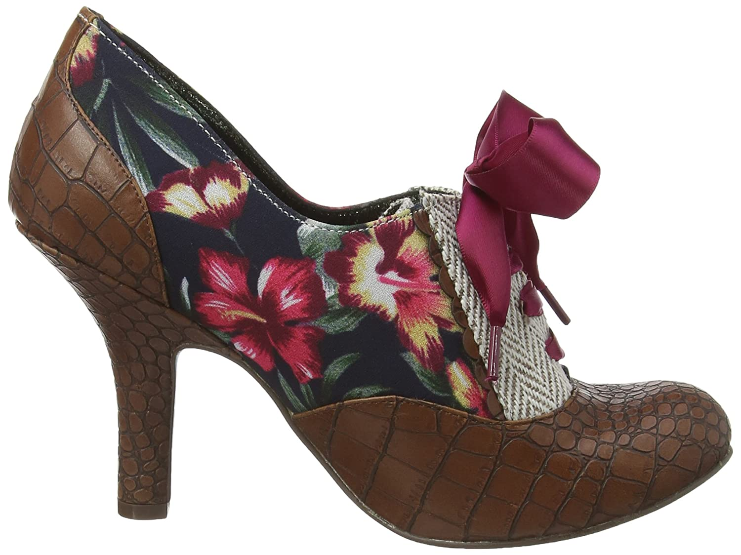 Irregular Choice Quillglimmer Womens HeelShoes Brown Brown Floral  35 UK 36 EU Amazoncouk Shoes  Bags