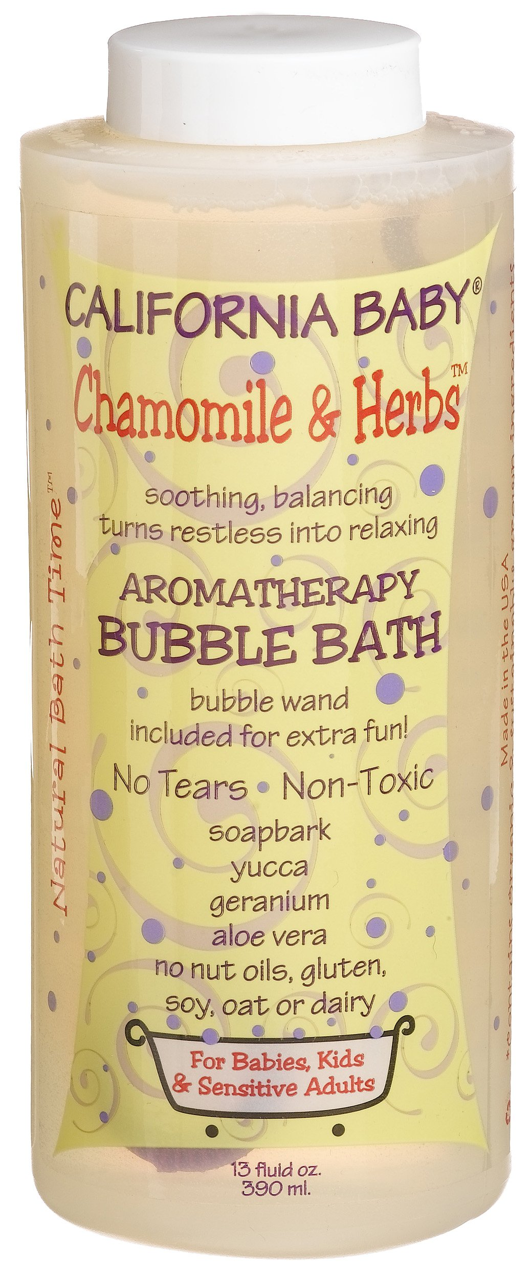 California Baby Bubble Bath - Chamomile & Herbs, 13 oz (Pack of 2) by California Baby