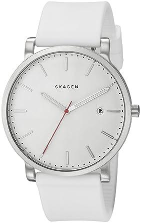 Skagen SKW6345 Hagen blancos de silicona Reloj de Hombres 40 x 40 mm Blanco: Amazon.es: Relojes