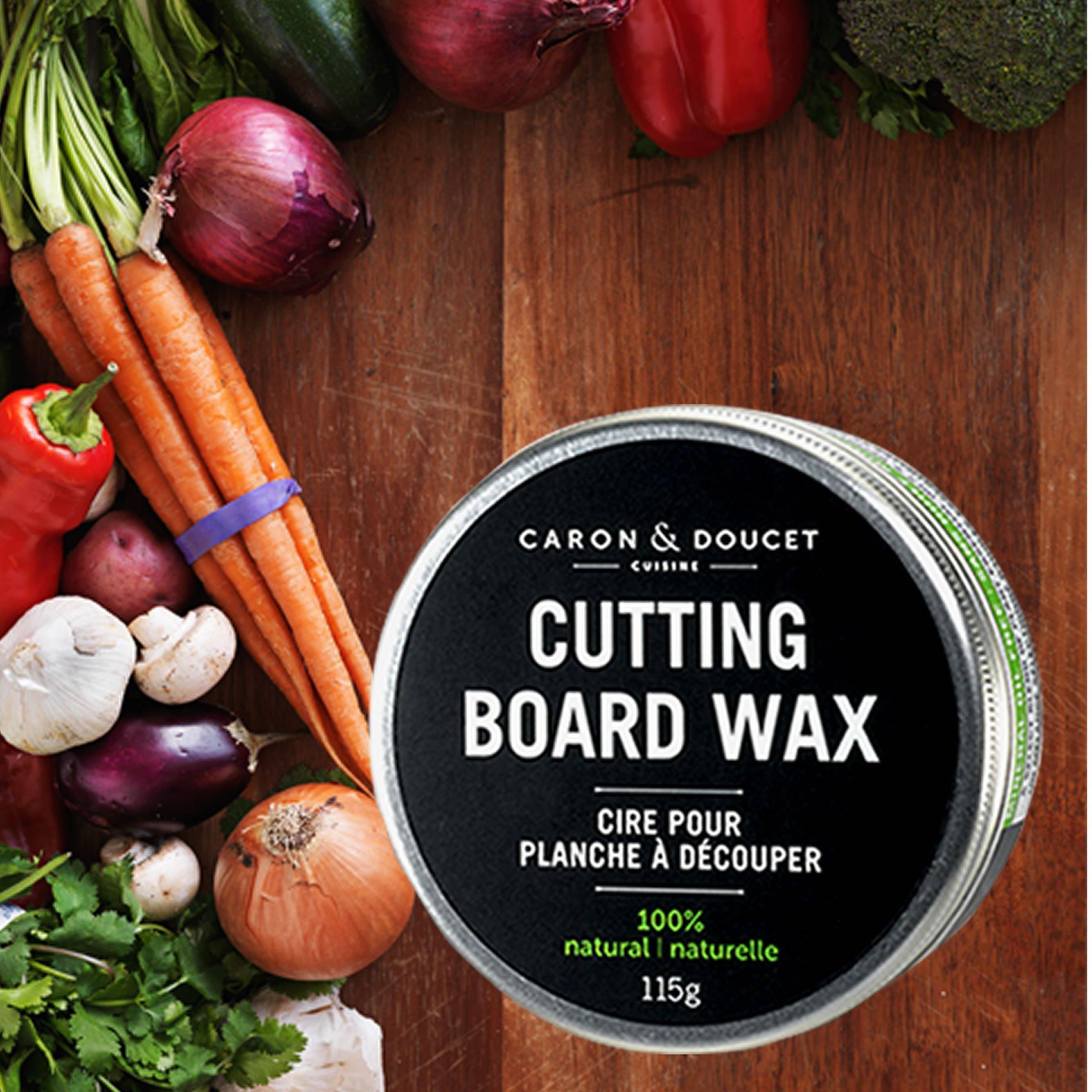 Caron & Doucet - Cutting Board & Butcher Block Bundle: 2 items - 1 Cutting Board & Butcher Block Oil, 1 Cutting Board & Butcher Block Wax. 100% Plant Based (8oz Bullet) by Caron Doucet Cuisine (Image #3)
