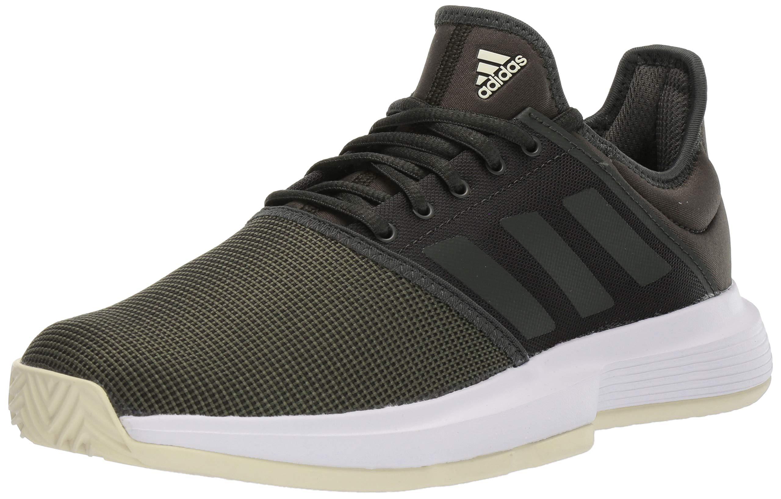 adidas Women's GameCourt Tennis Shoe, Legend Earth/Linen, 7 M US