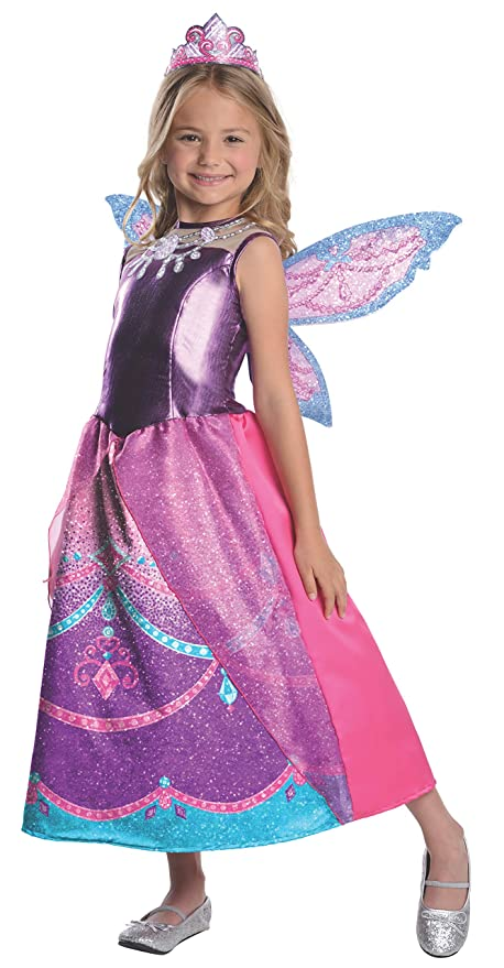e241e0887cf Barbie Fairytopia Mariposa and Her Butterfly Fairy Friends Deluxe Catania  Costume, Toddler 1-2