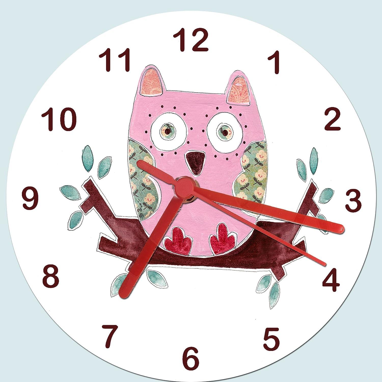 Owl clockskids room clockgirls room clock girls clock owl clockskids room clockgirls room clock girls clock childrens clocks wall clocks amazon kitchen home amipublicfo Choice Image