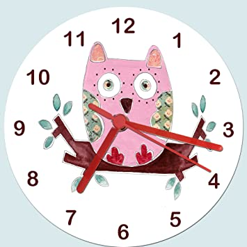 Owl ClocksKids Room ClockGirls Room Clock Girls Clock - Wall clock for kids room