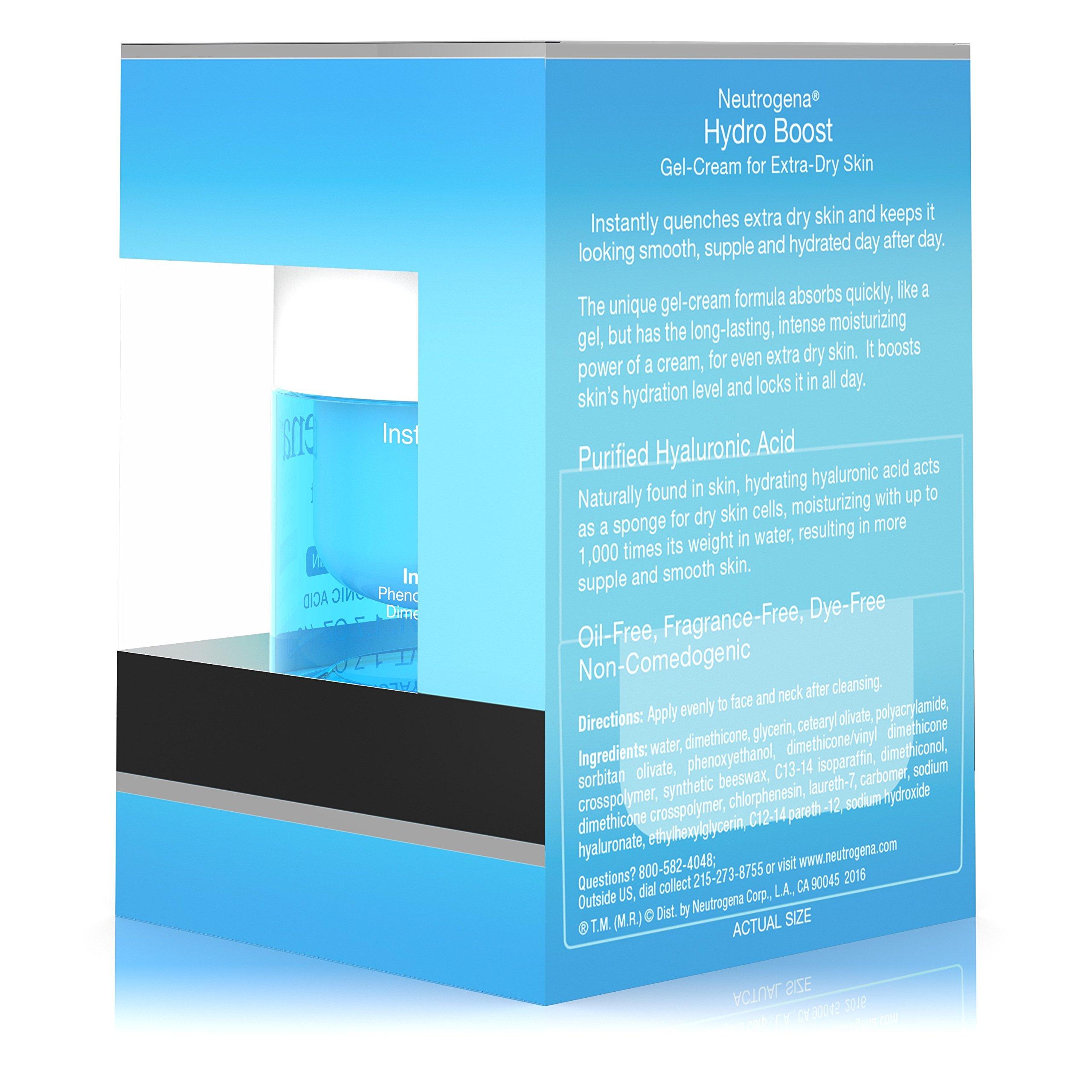 Neutrogena Hydro Boost Hyaluronic Acid Hydrating Face Moisturizer Gel-Cream to Hydrate and Smooth Extra-Dry Skin, 1.7 oz by Neutrogena (Image #10)