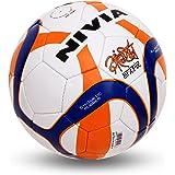 Nivia Antrix Rubber Football, Size 5 (White/Orange/Blue)