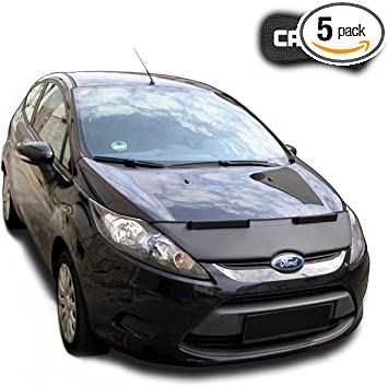 Hood Bra for Ford Fiesta 7 Bonnet Car Bra Front End Cover Nose Mask Stoneguard Protector TUNING
