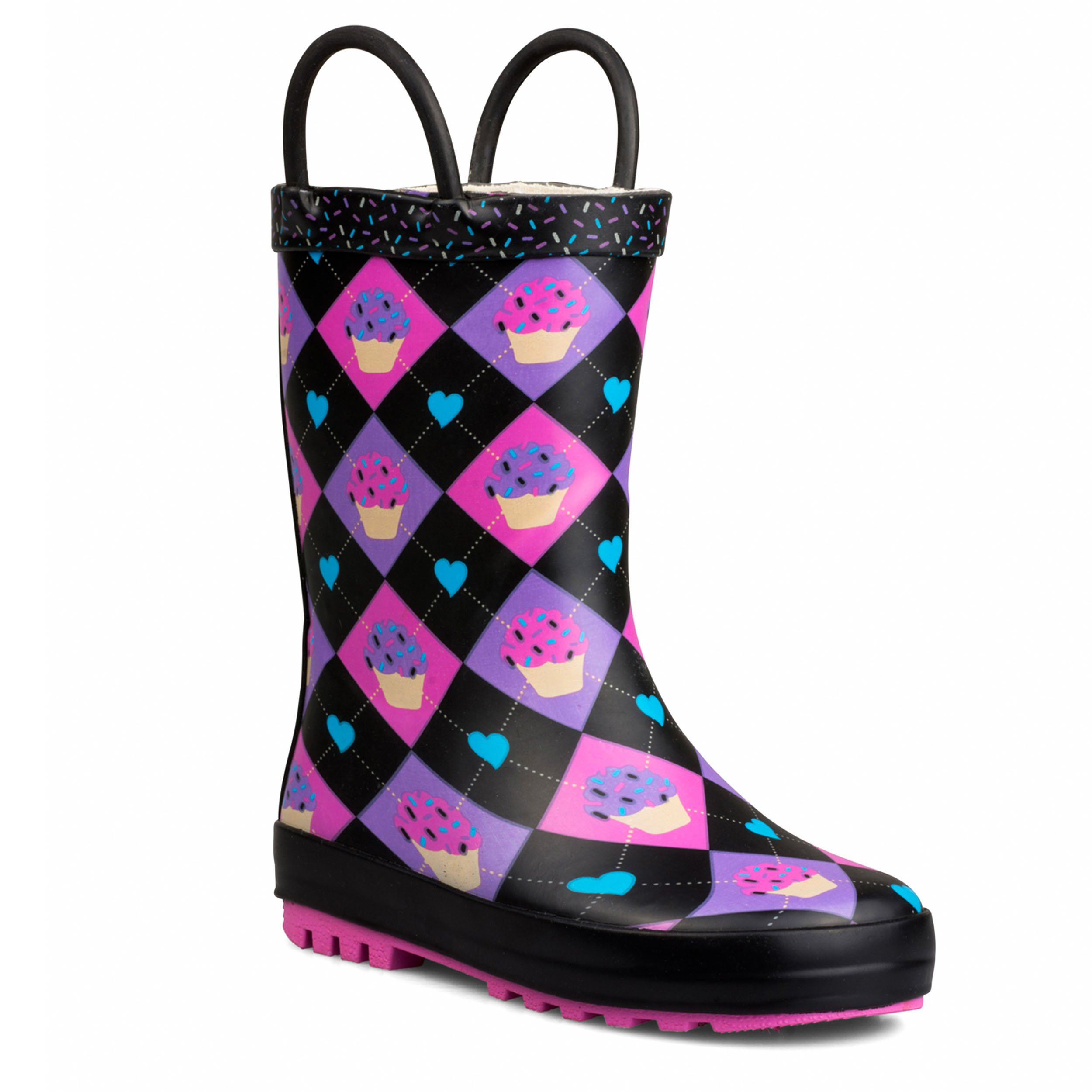 Chillipop Kids Rainboots, Waterproof, Pull Handles, Fun Prints/Colors