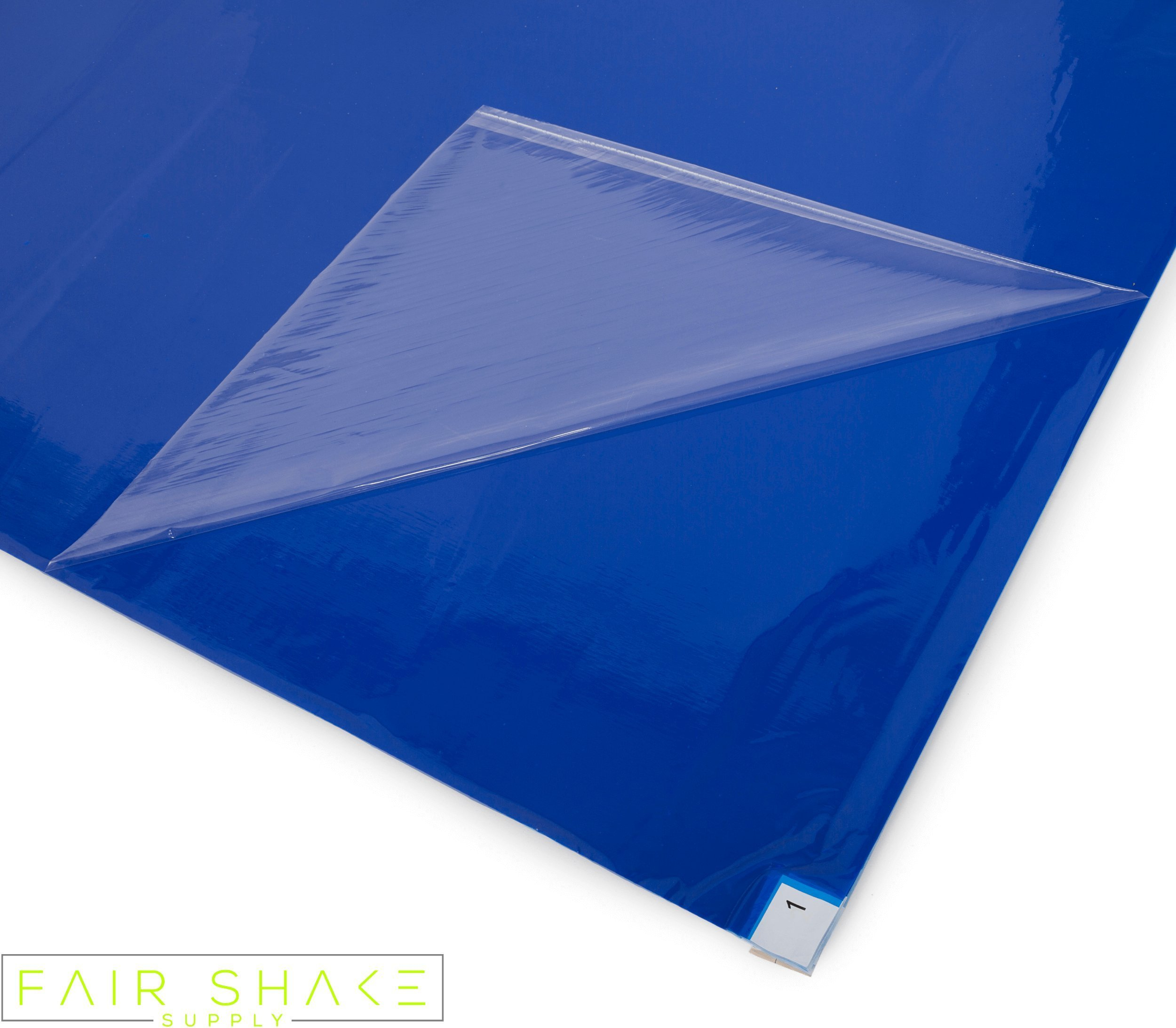 Sticky, Tacky Blue Floor Mats (4 Mats Included with 30 Sheets Each) for Renovations/Construction / Cleanrooms with Quality Adhesive Properties