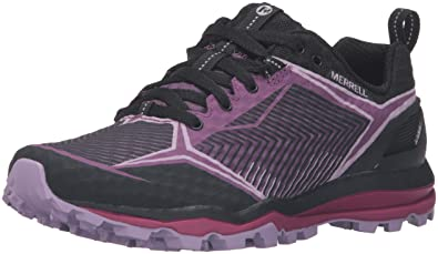 Women's Sneakers/merrell black purple all out crush shield ex8y79y2