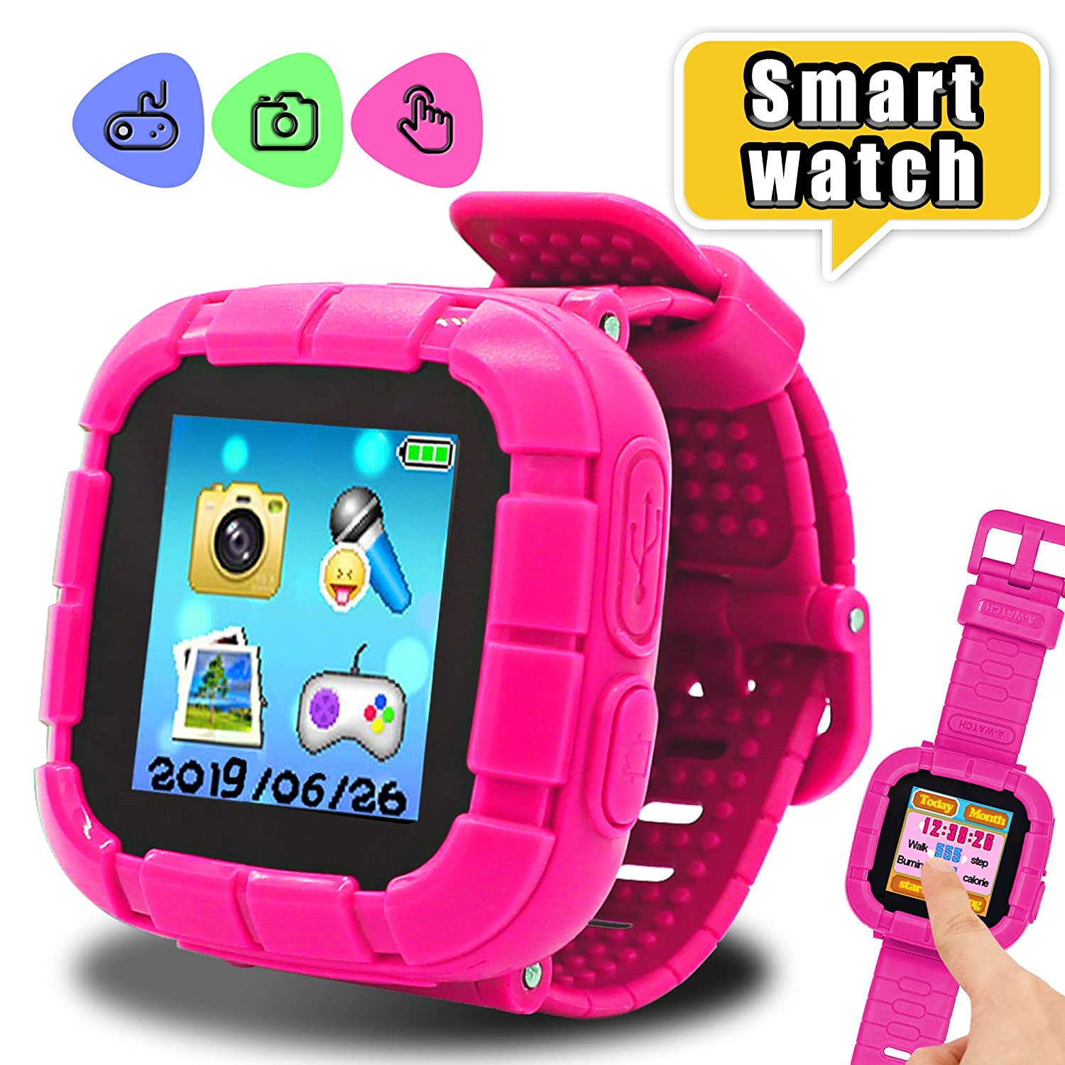 Gifts for 3-8 Year Old Girls Yehtta Smart Watch for Kids Smartwatch Touchscreen Kids Watches Girls Alarm Clock Electronic Toys for Kids VTech Kidizoom ...