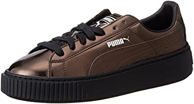 Amazon.com   Puma Basket Platform Metallic Womens Trainers   Fashion ... 3ffd798fec
