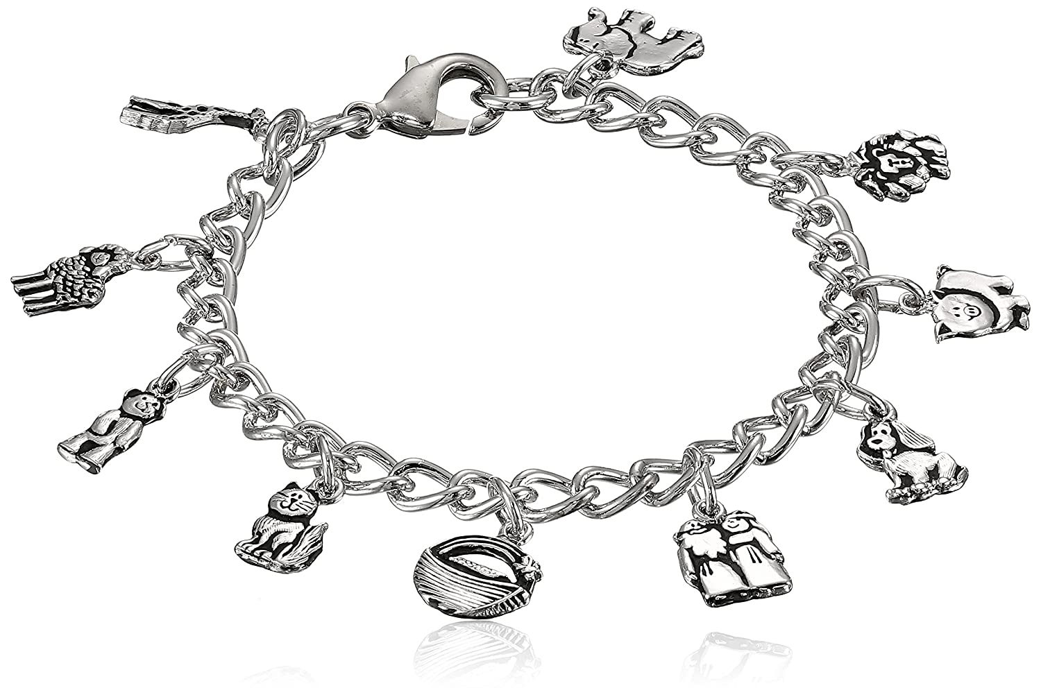 Bob Siemon Pewter Noah's Ark Children's Bracelet Amazon Curated Collection 510-339-5657