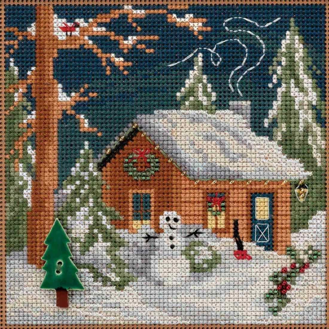 Arts, Crafts & Sewing Winter Welcome Beaded Counted Cross Stitch ...