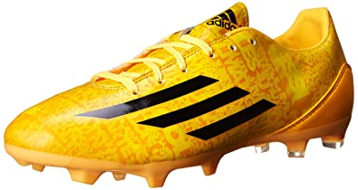 adidas Performance Men's F10 Firm Ground Messi Soccer Cleat, Solar GoldBlack