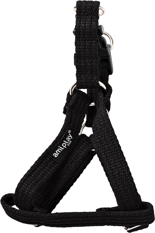 Ami Play algodón Perro arnés Suave y Duradero con Asas Ajustables, pequeño, Negro: Amazon.es: Productos para mascotas