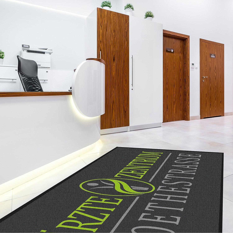 Casa pura Premium Fußmatte selbst selbst selbst gestalten   personalisierte Schmutzfangmatte mit Ihrem Motiv, Text, Logo   für Einzug, Hochzeit, als Geschenk UVM.   große Auswahl (schwarz - 45x60 cm) B07CG7PVY2 Fumatten 6ba030