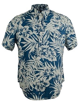 69c115f30a5fd7 Polo Ralph Lauren Men s Floral Print Linen Shirt (XX-Large