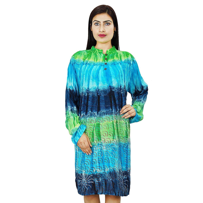 Viscose-Kleid Multicolour Metcalf Länge Kurti Kleid-Sommer-Abnutzungs-beiläufiges Kleid-