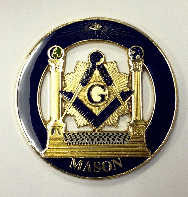 3 Masonic Cutout Car Decal