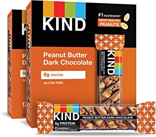 product image for KIND Bars, Peanut Butter Dark Chocolate, 8g Protein, Gluten Free, 1.4 Ounce Bars, 24 Count