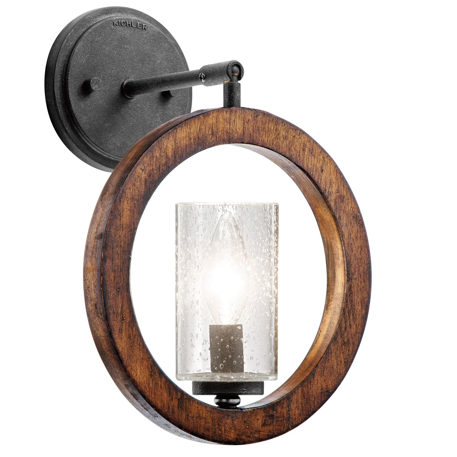 Kichler 43189aub grand bank mini pendantwall 1 light auburn kichler 43189aub grand bank mini pendantwall 1 light auburn stained finish ceiling pendant fixtures amazon aloadofball Image collections