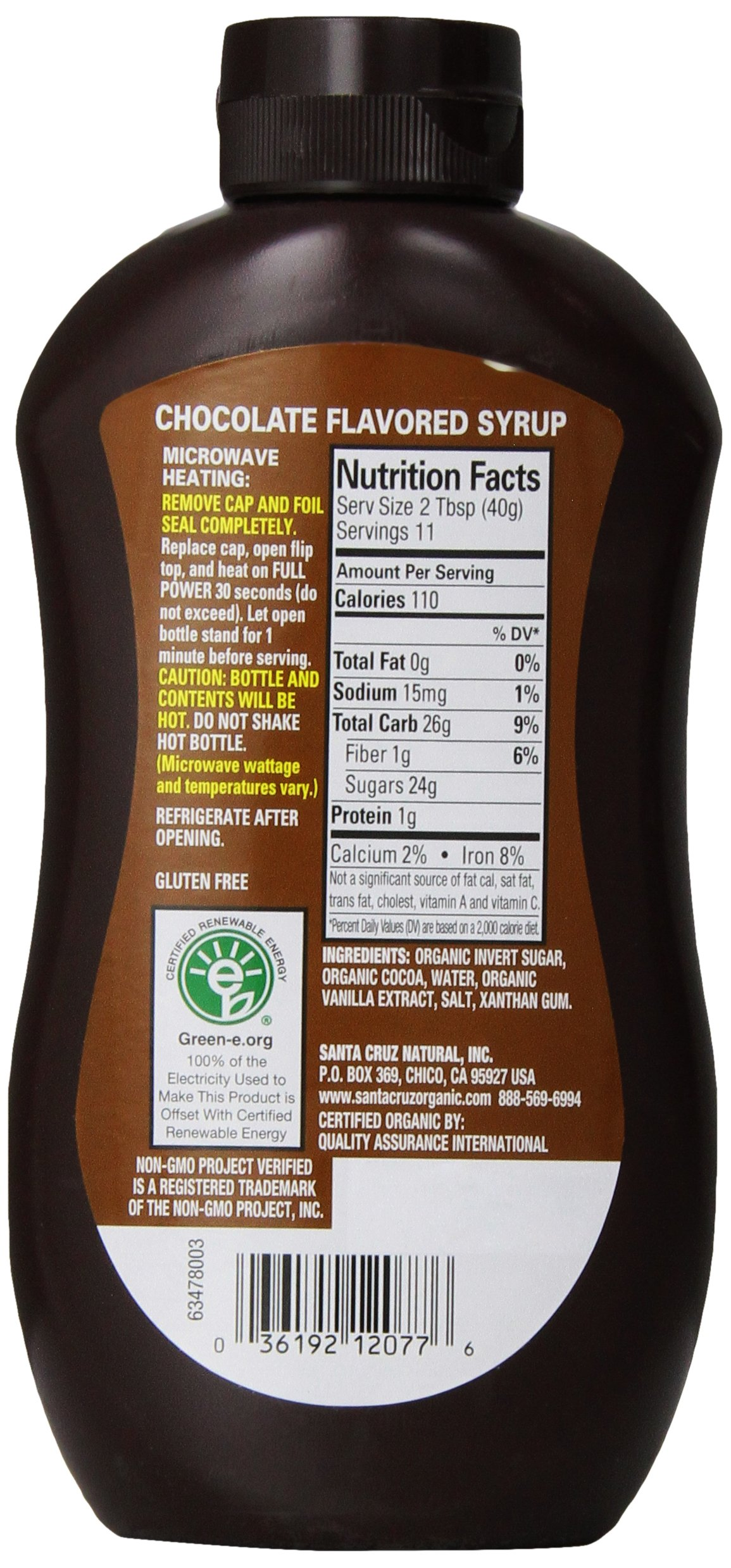 Santa Cruz Organic Chocolate Syrup, 15.5 Ounce (Pack of 12) by Santa Cruz Organic (Image #4)