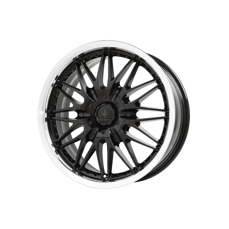 Verde Custom Wheels Protocol Black Wheel with Machined Lip 17x7//4x100 mm