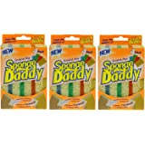 Sponge Daddy Scratch Free Supersoft absorbent sponge with 4 colors, (Pack of 3)...