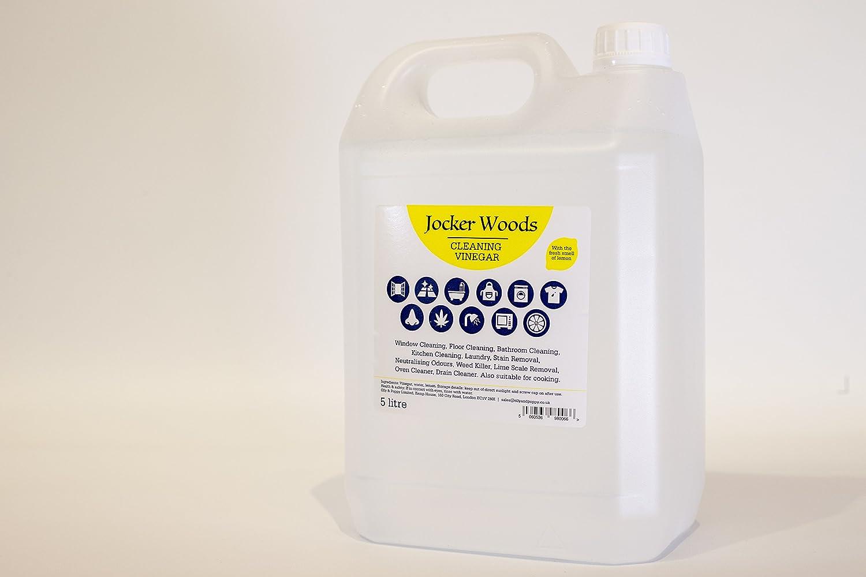 White Vinegar for cleaning with the fresh smell of lemon - Single 5l PET Jocker Woods