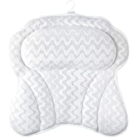 Bath Pillow, Bathtub Cushion for Neck with 6 Non-Slip Strong Suction Cups, Helps Support Head, Back, Shoulder and Neck…