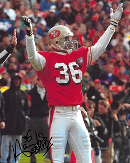 3471da67141 Merton Hanks, San Francisco 49ers, Niners, Signed, Autographed, 8x10 Photo,  a Coa with the Proof Photo of Merton Signing Will Be Include- at Amazon's  Sports ...