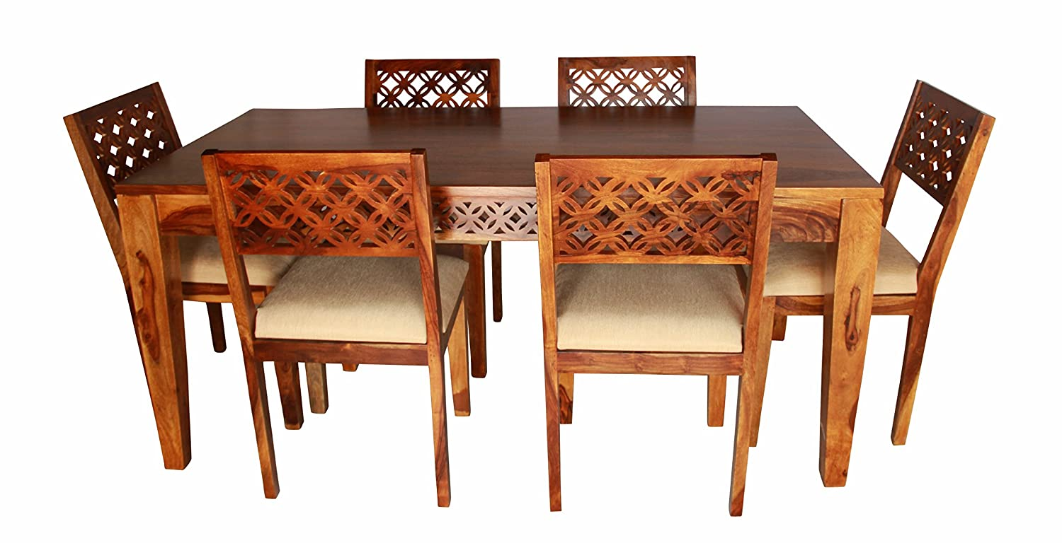 91bf4380cc6 Aprodz Sheesham Wood Durque 6 Seater Dining Table Set for Home ...