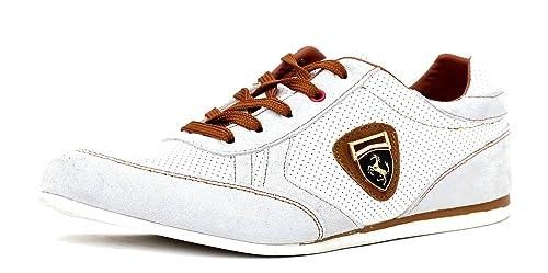 Scarpe Da Ginnastica Da Uomo Casual Pizzo Pelle Abito Elegante scarpe  misura inglese - Uomo 57ef33be80b