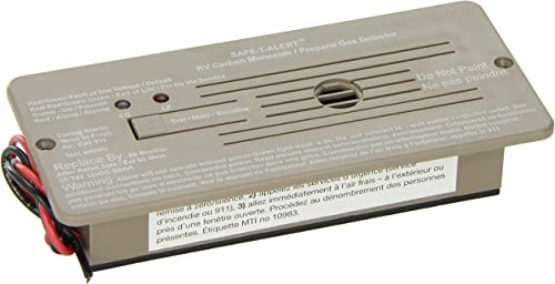 MTI Industries 35-742-BR Safe T Alert 35 Series Dual LP CO Alarm – Flush Mount, Brown
