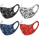 Unisex Paisley Bandana Mouth Face Protective Covering Fashion Balaclavas Fabric Washable Reusable Breathable (1, Black…