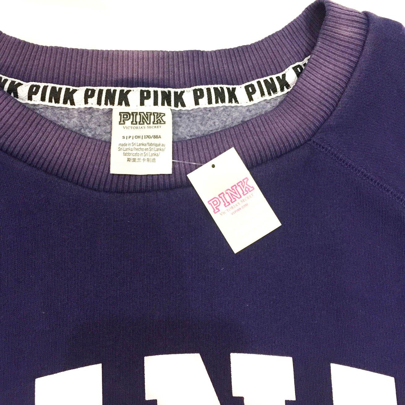 Pink Victorias Secret - Sudadera - para Mujer Morado Deep Sapphire Purple Small: Amazon.es: Ropa y accesorios