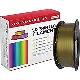 3D Printer Filament PLA 1.75mm, 3D Printing Filament PLA for 3D Printer and 3D Pen, Metallic Color PLA Filament, Marble Black PLA Filament, Dimensional Accuracy +/- 0.02mm,1kg (2.2lb) Spool(Bronze.)