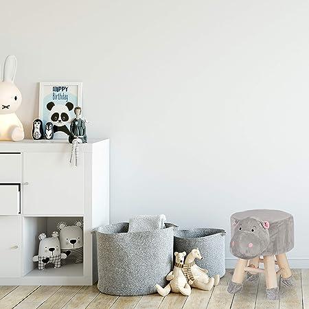 in legno coniglio 23 x 28 cm Dielay peluche Sgabello per bambini