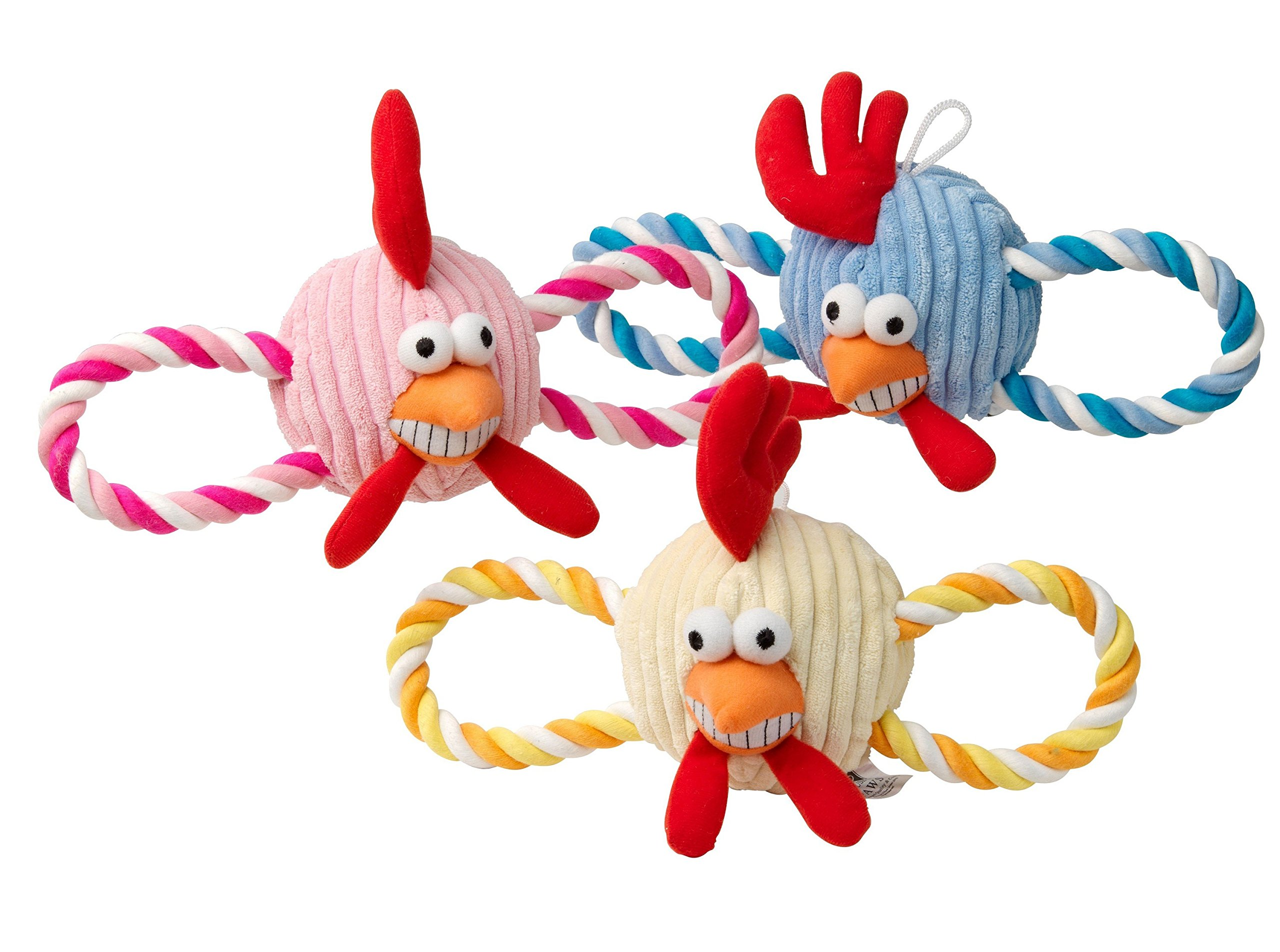 House of Paws Funky Chicken Rope Dog Toy, Yellow