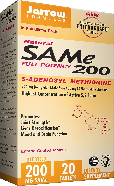 Jarrow Formulas Sam-e, Promotes Joint Strength, Liver Detoxification,  200mg, 20 Tabs