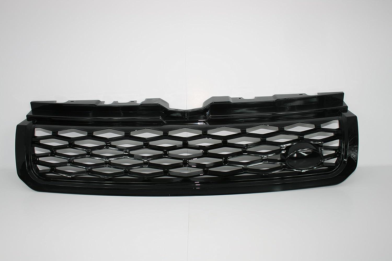 Java Schwarz 2011-2018 Zunsport Kompatibel mit Range Rover Evoque Dynamic Frontgrill-Upgrade gl/änzend mit silberfarbener Verkleidung