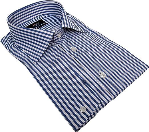 MMUGA - Camisa de manga larga para hombre, diseño de rayas ...