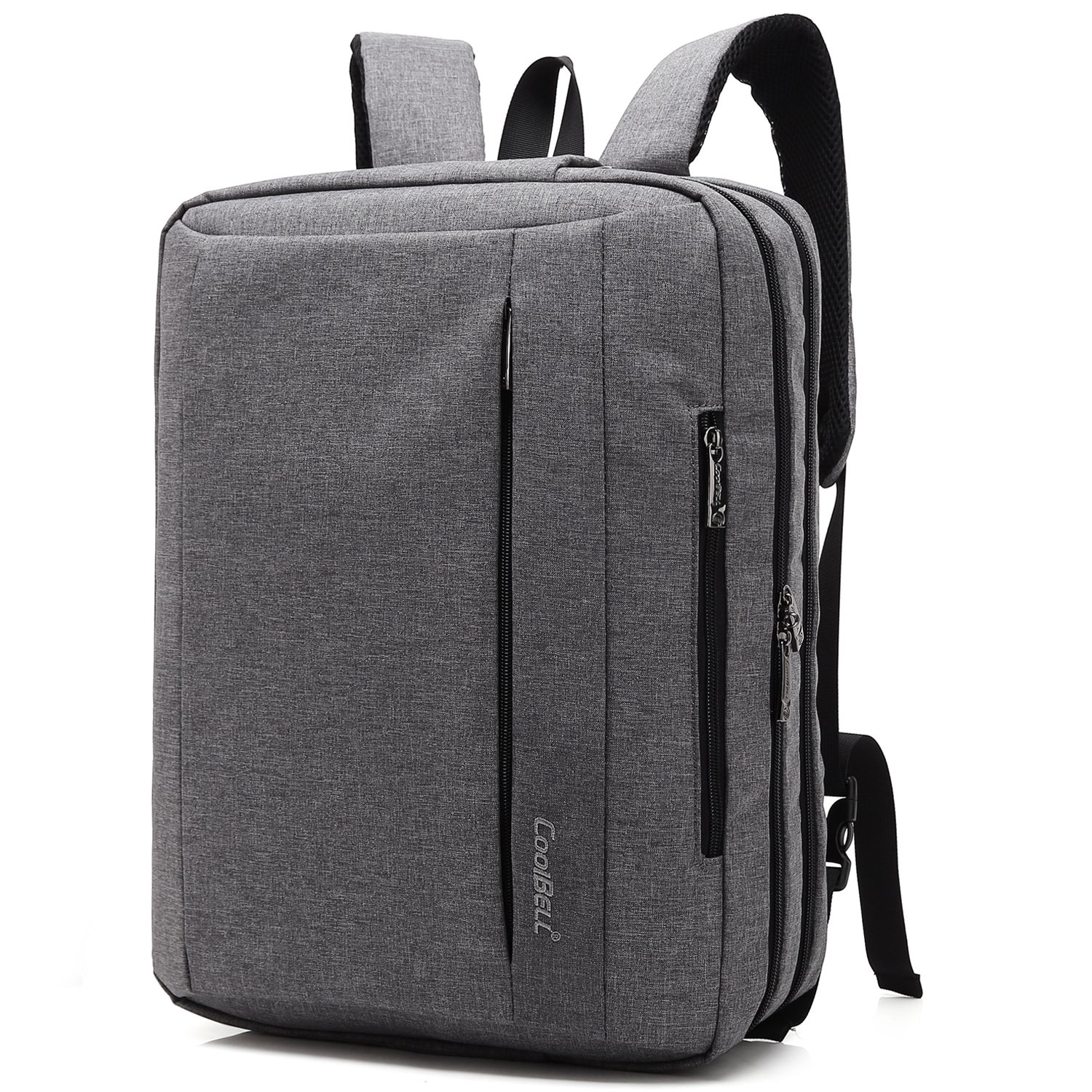 Coolbell 17.3 Inches Convertible Laptop Messenger Bag Shoulder Bag Backpack Oxford Cloth Multi-Functional Briefcase for Laptop/MacBook / Tablet (Black) 6454456