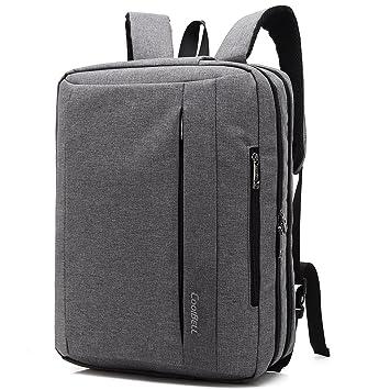 Coolbell 15.6 Pulgadas Convertible Laptop Messenger Bag Hombro Bolsa Mochila Multifuncional paño de Oxford maletín para Ordenador portátil/Macbook/Tablet ...