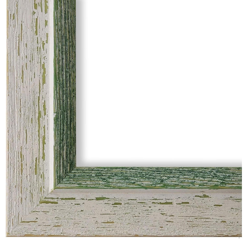 Online Galerie Bingold Bilderrahmen Beige Weiß Grün 60x90-60 x 90 cm - Modern, Shabby, Vintage - Alle Größen - Handgefertigt in Deutschland - WRF - Catanzaro 3,9