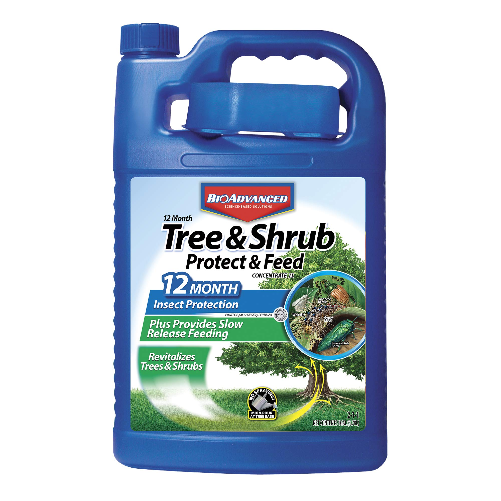 Bio Advanced 701615 12 Month Tree and Shrub Protect and Feed Concentrate, 1-Gallon by BioAdvanced