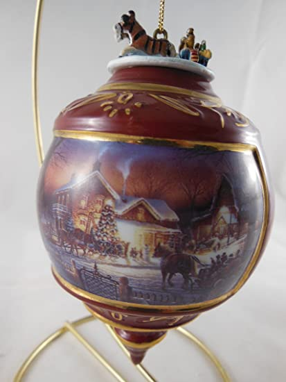 """Terry Redlin's Holiday Memories Heirloom Porcelain Christmas Ornament  """"Trimming the ... - Amazon.com: Terry Redlin's Holiday Memories Heirloom Porcelain"""